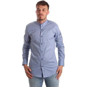 Textiel Heren Overhemden lange mouwen Antony Morato MMSL00526 FA430086 Blauw