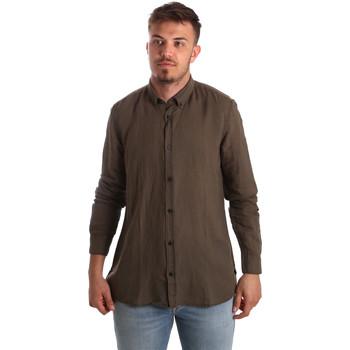 Textiel Heren Overhemden lange mouwen Antony Morato MMSL00530 FA400051 Bruin