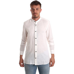 Textiel Heren Overhemden lange mouwen Antony Morato MMSL00547 FA400051 Wit