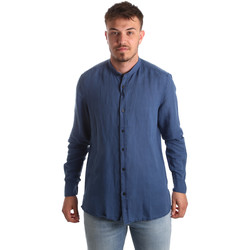 Textiel Heren Overhemden lange mouwen Antony Morato MMSL00547 FA400051 Blauw