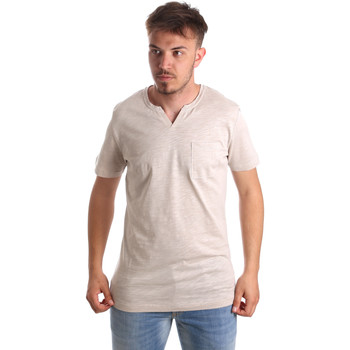 Textiel Heren T-shirts korte mouwen Antony Morato MMKS01487 FA100139 Beige