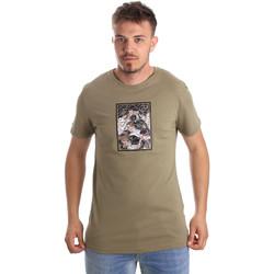 Textiel Heren T-shirts korte mouwen Antony Morato MMKS01551 FA100144 Groen