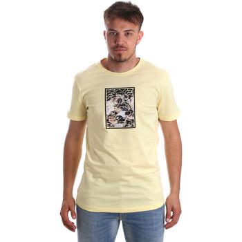 Textiel Heren T-shirts korte mouwen Antony Morato MMKS01551 FA100144 Geel