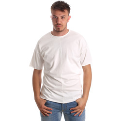 Textiel Heren T-shirts korte mouwen Antony Morato MMKS01564 FA100189 Wit