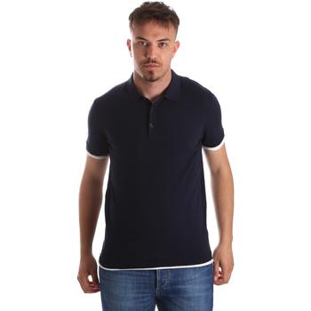 Textiel Heren Polo's korte mouwen Gaudi 911FU53006 Blauw