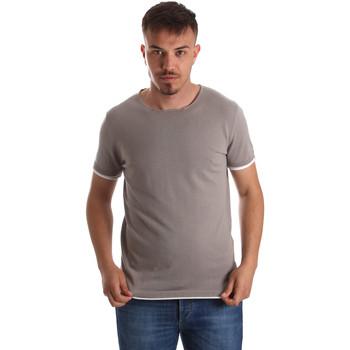 Textiel Heren T-shirts korte mouwen Gaudi 911FU53007 Grijs