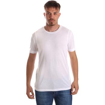 Textiel Heren T-shirts korte mouwen Gaudi 911FU64005 Wit