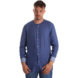 Textiel Heren Overhemden lange mouwen Gaudi 911BU45002 Blauw