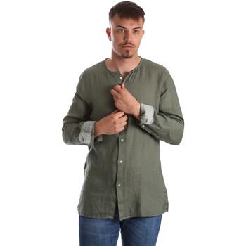 Textiel Heren Overhemden lange mouwen Gaudi 911BU45002 Groen