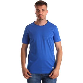Textiel Heren T-shirts korte mouwen Gaudi 911BU64023 Blauw