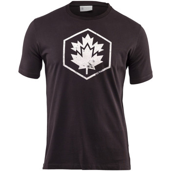 Textiel Heren T-shirts korte mouwen Lumberjack CM60343 001 509 Zwart