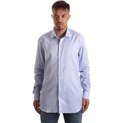 Textiel Heren Overhemden lange mouwen Navigare NV90005 FR Blauw