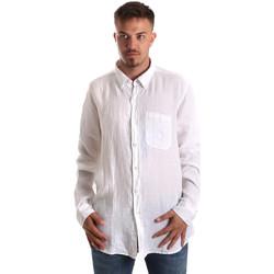 Textiel Heren Overhemden lange mouwen Navigare NV92067 BD Wit