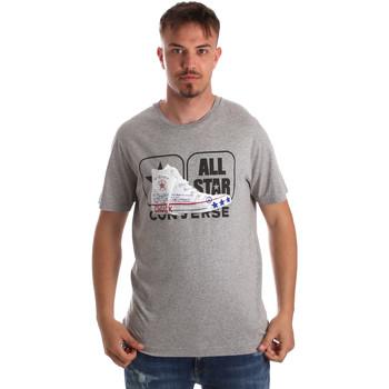Textiel Heren T-shirts korte mouwen Converse 10017575-A01 Grijs
