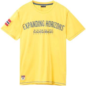 Textiel Heren T-shirts korte mouwen Napapijri N0YIFP Geel