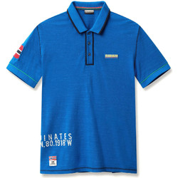 Textiel Heren Polo's korte mouwen Napapijri N0YIG0 Blauw