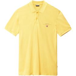 Textiel Heren Polo's korte mouwen Napapijri N0YIJ5 Geel