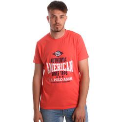 Textiel Heren T-shirts korte mouwen U.S Polo Assn. 52231 51331 Oranje