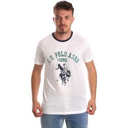 Textiel Heren T-shirts korte mouwen U.S Polo Assn. 52465 51334 Wit