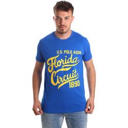 Textiel Heren T-shirts korte mouwen U.S Polo Assn. 49351 51340 Blauw