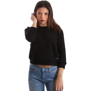 Textiel Dames Sweaters / Sweatshirts Calvin Klein Jeans J20J210319 Zwart