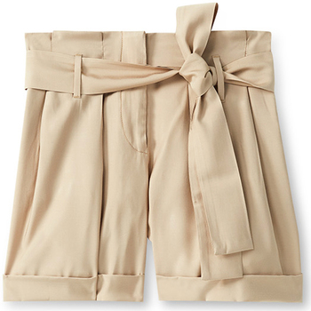 Textiel Dames Korte broeken / Bermuda's Liu Jo F19231T2311 Beige