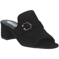 Schoenen Dames Leren slippers IgI&CO 3185155 Zwart