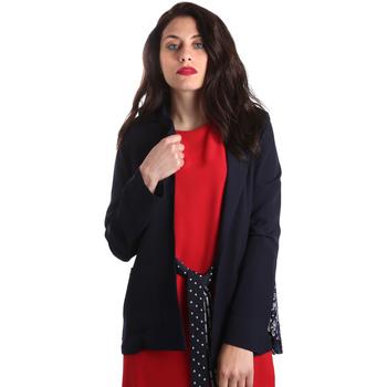 Textiel Dames Jasjes / Blazers Fracomina FR19SP006 Blauw