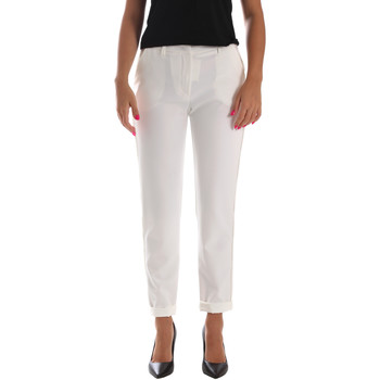 Textiel Dames Chino's Fracomina FR19SP684 Wit