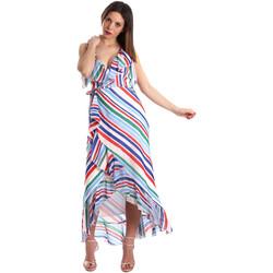 Textiel Dames Lange jurken Fracomina FR19SP594 Wit