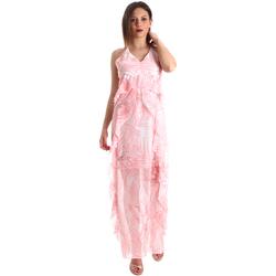 Textiel Dames Lange jurken Fracomina FR19SP429 Roze