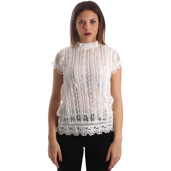Textiel Dames Tops / Blousjes Fracomina FR19SP521 Wit