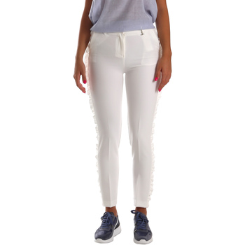 Textiel Dames Chino's Fracomina FR19SP666 Wit
