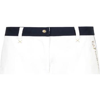 Textiel Dames Korte broeken / Bermuda's Ea7 Emporio Armani 3GTS02 TN29Z Wit