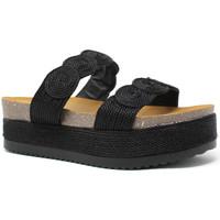 Schoenen Dames Leren slippers Exé Shoes I468Q6923001 Zwart
