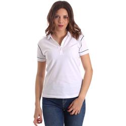Textiel Dames Polo's korte mouwen La Martina NWP002 PK001 Wit