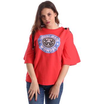 Textiel Dames T-shirts korte mouwen Gaudi 911BD64037 Rood
