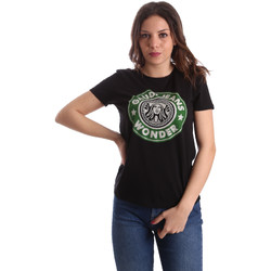 Textiel Dames T-shirts korte mouwen Gaudi 911BD64038 Zwart