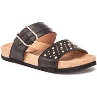 Schoenen Dames Leren slippers Lumberjack SW57506 001 Q12 Zwart