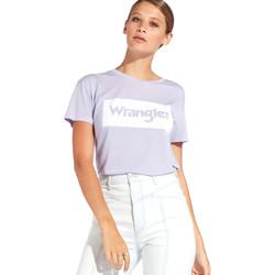 Textiel Dames T-shirts korte mouwen Wrangler W7016D Paars