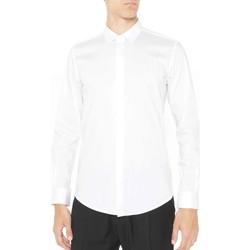 Textiel Heren Overhemden lange mouwen Antony Morato MMSL00293 FA450001 Wit