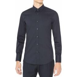 Textiel Heren Overhemden lange mouwen Antony Morato MMSL00375 FA450001 Blauw
