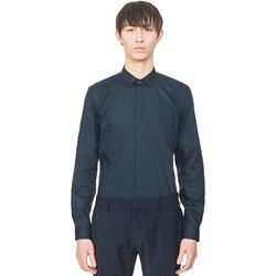 Textiel Heren Overhemden lange mouwen Antony Morato MMSL00293 FA450001 Blauw
