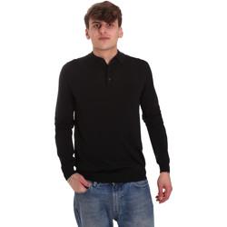 Textiel Heren Polo's lange mouwen Antony Morato MMSW01065 YA500057 Zwart