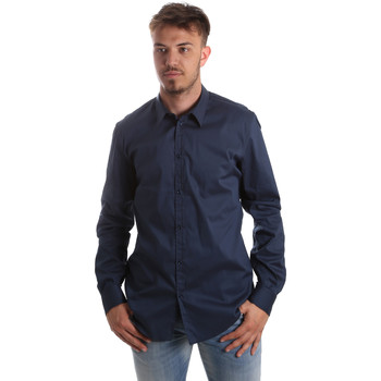 Textiel Heren Overhemden lange mouwen Gaudi 921FU45014 Blauw