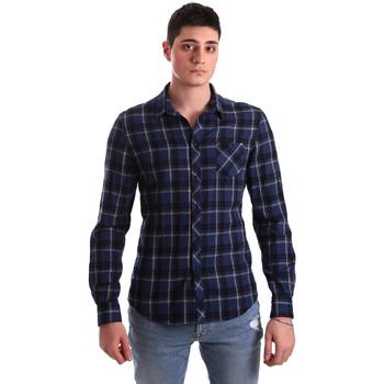 Textiel Heren Overhemden lange mouwen Gaudi 921BU45006 Blauw