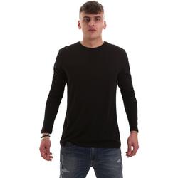 Textiel Heren T-shirts met lange mouwen Antony Morato MMKL00264 FA100066 Zwart