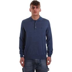 Textiel Heren Polo's lange mouwen Navigare NV11006 40 Blauw