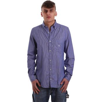 Textiel Heren Overhemden lange mouwen Navigare NV91068 BD Blauw