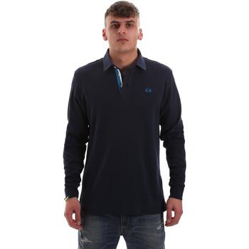 Textiel Heren Polo's lange mouwen La Martina OMP007 JS169 Blauw
